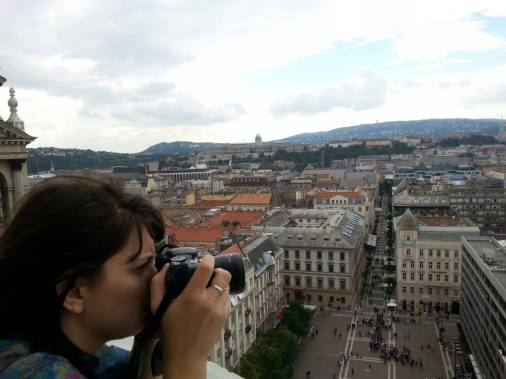 Snapping photos at St. Stephens Basilica in Budapest