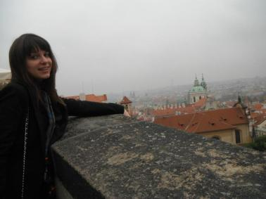 Overlooking Prague from Prague Castle