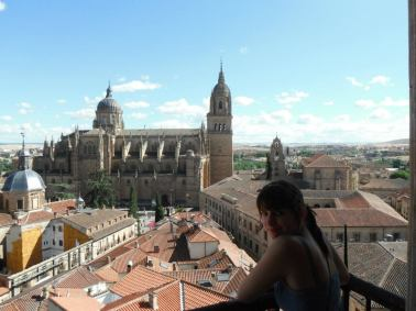 "Looking at the ""new"" cathedral in Salamanca, Spain"