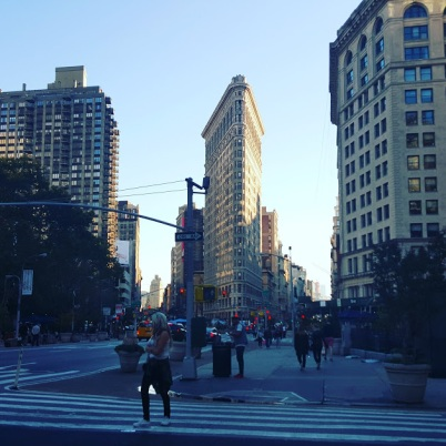 The famous Flat Iron Building
